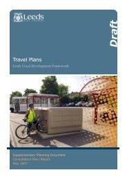 Travel Plans - Leeds City Council Consultations