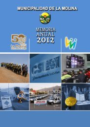 MEMORIA ANUAL - Municipalidad de La Molina