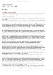 Blühende Landschaften - Nachrichten Print - WELT AM ... - Applaus