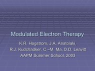 Modulated Electron Therapy