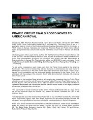 prairie circuit finals rodeo moves to american royal - Agbusinessmail ...