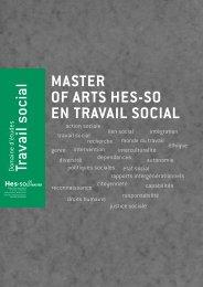 MASTER OF ARTS HES-SO EN TRAVAIL SOCIAL Travail ... - Reiso