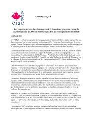 Version imprimable - Service canadien de renseignements criminels