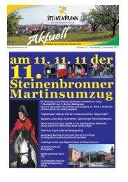 Steinenbronn Aktuell Nr. 44 vom 03. November 2011