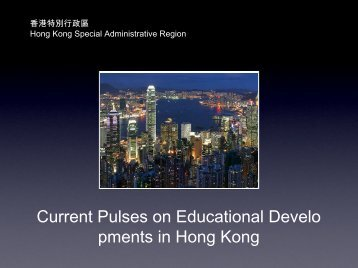 Current Pulses on Educational Developments in Hong ... - AACRAO