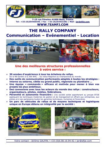 Le Rallye - Team FJ