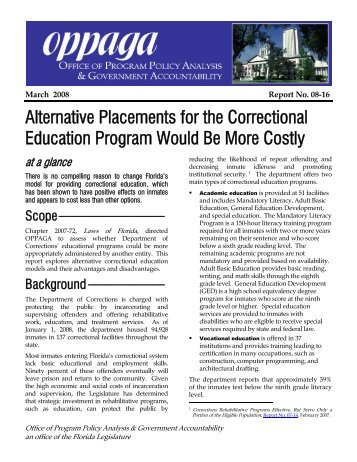 Corrective reading comprehension placement test corrective reading comprehension alternative placements for the correctional florida monitor fandeluxe Image collections