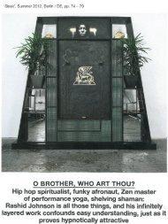 Hip hop spiritualist, funky afronaut, Zen master - Hauser & Wirth