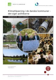 Klimatilpasning i de danske kommuner - det siger politikerne - KFT