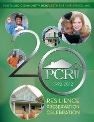 2012 20th Anniversary Report - Portland Community Reinvestment ...