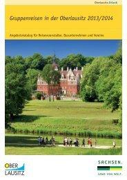 """Broschüre """"Gruppenreisen in der Oberlausitz 2013/2014"""""""
