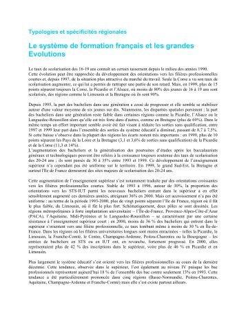Le système de formation français et les grandes évolutions - Cereq