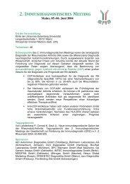 2. Immundiagnostisches Meeting - (GFID) eV
