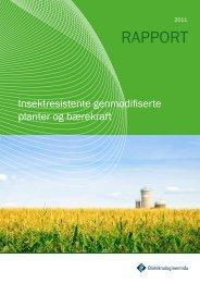 Rapport: Insektresistente genmodifiserte planter og bærekraft