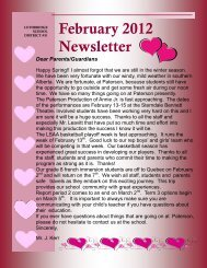 February 2012 Newsletter - Gilbert Paterson Community School