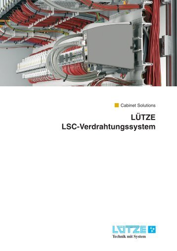 LÜTZE LSC-Verdrahtungssystem - Luetze.com