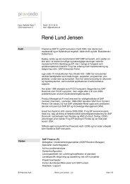Download CV (da) - PRAECEDO.DK - René Lund Jensen