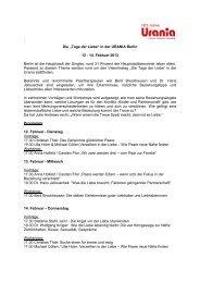 """´ Die """"Tage der Liebe"""" in der URANIA Berlin 12 - 14. Februar 2013 ..."""