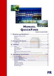 Guide QuickFind FR CoR 2.1 final margin - Toad - Europa