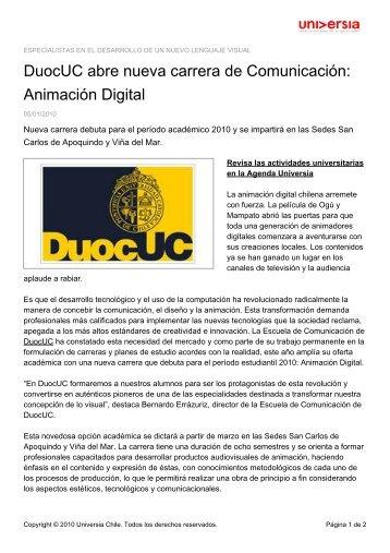 Animación Digital - Noticias - Universia