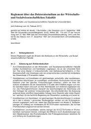 Reglement über das Doktoratsstudium vom 01.08.2007, mit ...