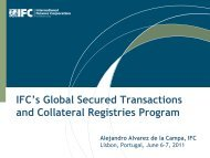 IFC's Global Secured Transactions and Collateral ... - EMRC