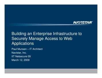 Building an Enterprise Infrastructure to Securely Manage Access to ...