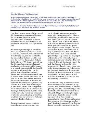 civil disobedience thoreau pdf