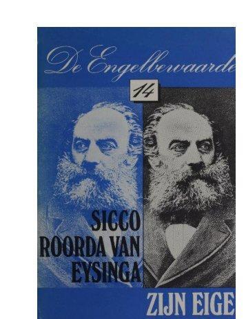 Sicco Roorda van Eysinga – zijn eigen vijand - Hans Vervoort