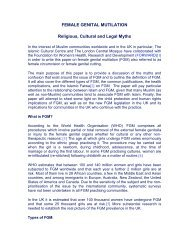 FEMALE GENITAL MUTILATION Religious ... - Intact-network.net