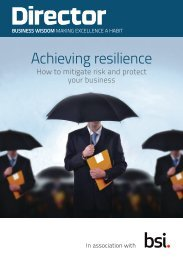 Achieving Resilience Guide - BSI