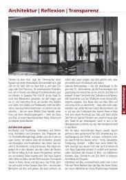Architektur | Reflexion | Transparenz - BauNetz