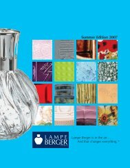 Summer Edition 2007 - Lampe Berger fragrance lamps Mt. Dora ...