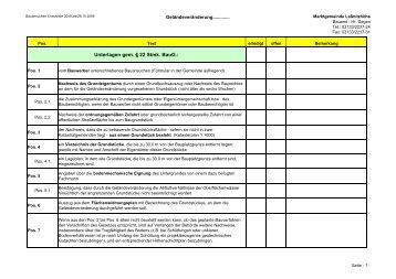 Bewilligung für Geländeveränderungen - Marktgemeinde Laßnitzhöhe