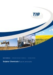 Sulphur Chemicals | specific and versatile - TIB Chemicals AG