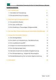 Beispiel Finanzplan Brinkmann - STECO Finanzberatung