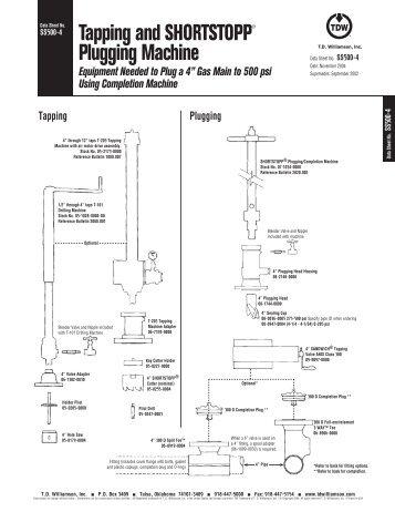 SHORTSTOPP® 500 4 Inch Data Sheet - T.D. Williamson, Inc.