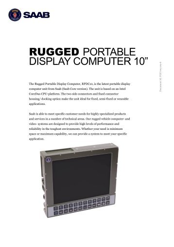 Rugged Portable Display Computer 10 inch (PDF) - Saab