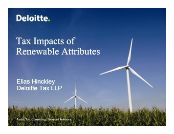 Tax Impacts of Renewable Attributes - Deloitte