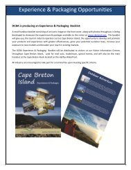 Tourism Industry Operator Exerience & Packaging booklet