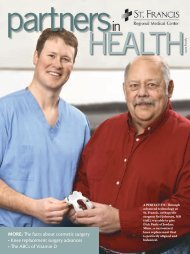 Spring 2010: A perfect fit (pdf) - St. Francis Regional Medical Center