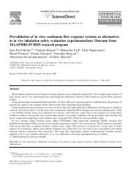 Prevalidation of in vitro continuous flow exposure systems as ...