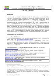 Charte de CelluloNet - BioSciences Gerland - Lyon Sud