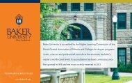 Strategic Goals - Baker University