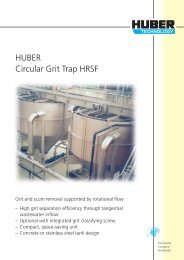 HUBER Circular Grit Trap HRSF - brochure english