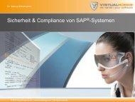 Sicherheit & Compliance von SAP®-Systemen - Virtual Forge