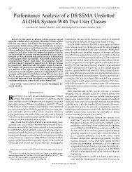 Performance analysis of a DS/SSMA unslotted ALOHA ... - IEEE Xplore