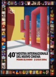 download document - Mostra internazionale del nuovo cinema