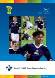 Scottish FA 2011 Coach Education Courses - Scottish Football ...
