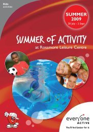 Summer of activity - Everyone Active